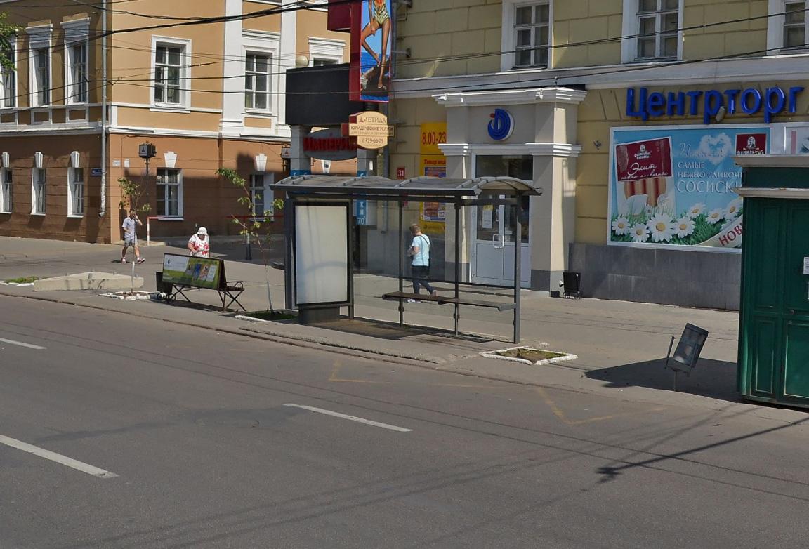 реклама на остановках в Воронеже